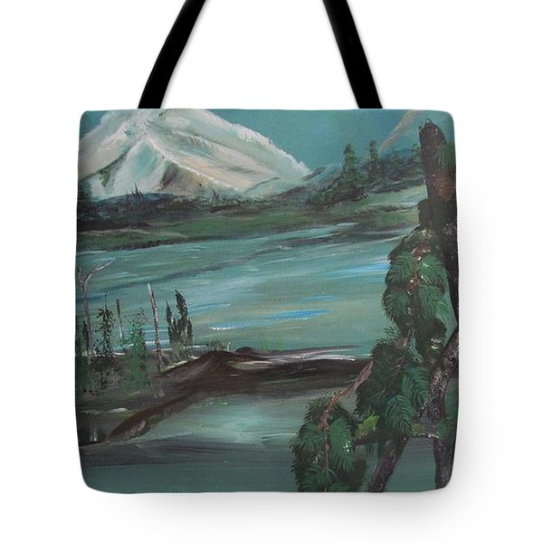 Mountain Cat Tote Bag