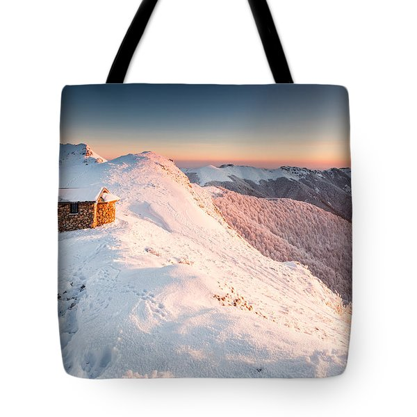 Mountain Chapel Tote Bag by Evgeni Dinev