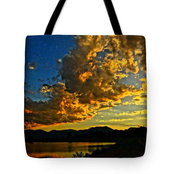 Tote Bag featuring the photograph Mountain Colour by Eric Dee