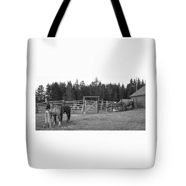 Mountain Corrals Tote Bag