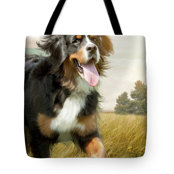 Mountain Dog Tote Bag