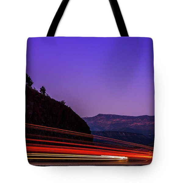 Mountain Driving Tote Bag