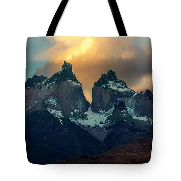 Tote Bag featuring the photograph Mountain Evening by Andrew Matwijec