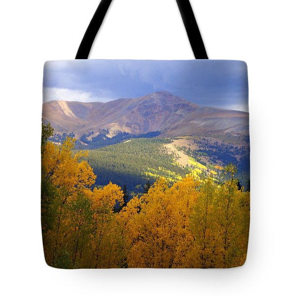 Mountain Fall Tote Bag by Marty Koch