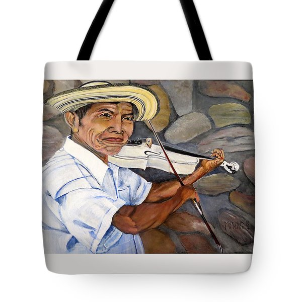 Mountain Fiddler Tote Bag by Marilyn McNish