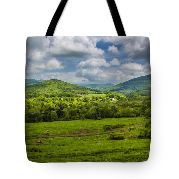 Mountain Field Of Greens Tote Bag by Paula Porterfield-Izzo