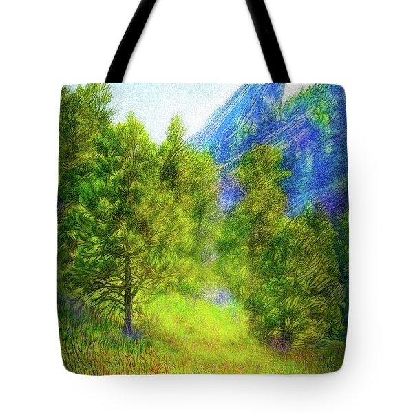 Mountain Field Springtime Tote Bag