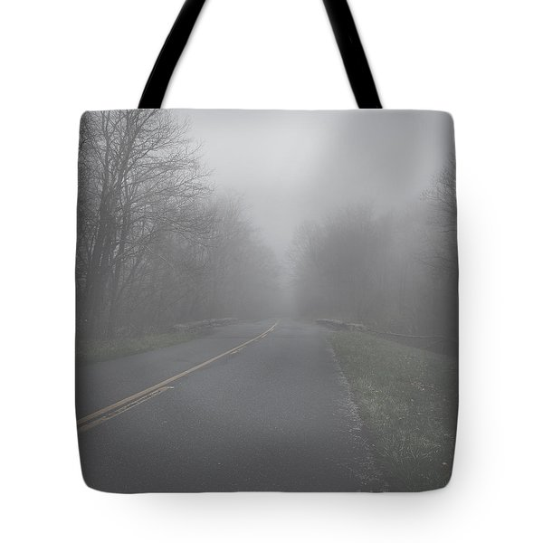 Mountain Fog Tote Bag by Joseph G Holland