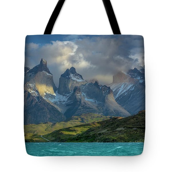 Mountain Glimmer Tote Bag by Andrew Matwijec