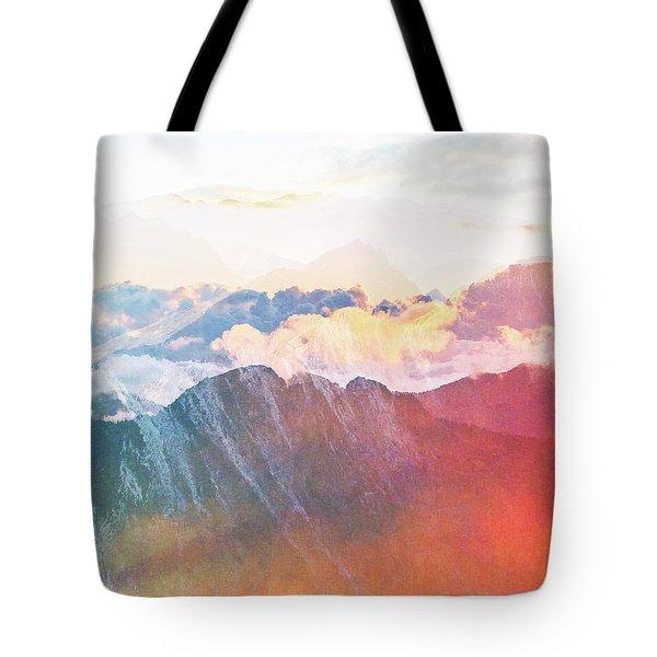 Mountain Glory Tote Bag by Uma Gokhale