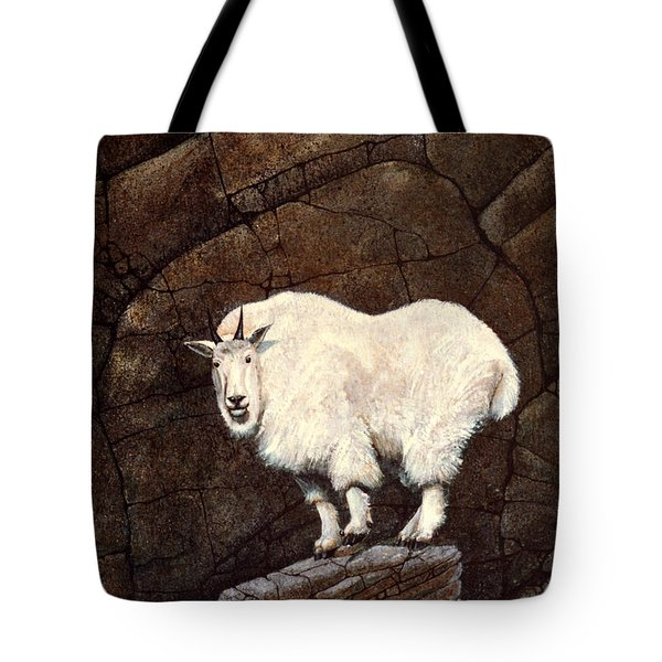 Mountain Goat Tote Bag by Frank Wilson