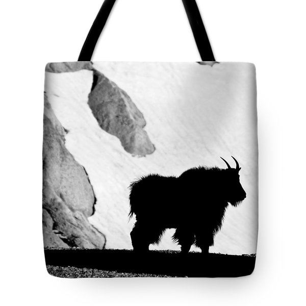 Mountain Goat Shadow Tote Bag