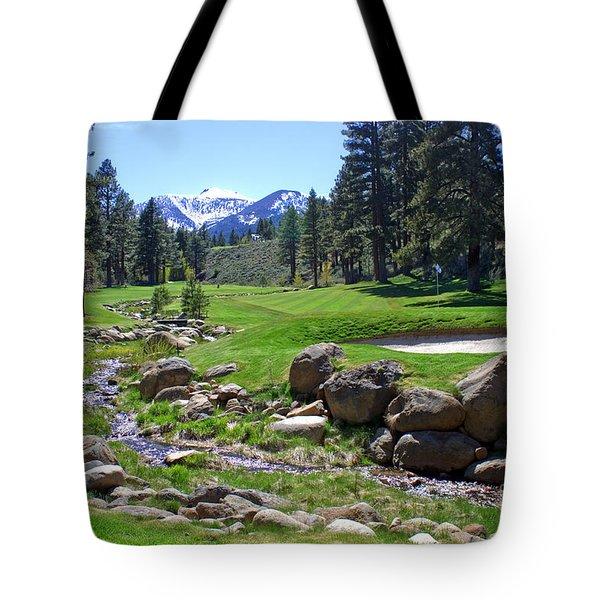 Mountain Golf Course Tote Bag