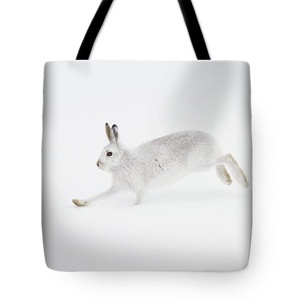 Mountain Hare Running Tote Bag