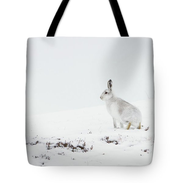 Mountain Hare Side On Tote Bag