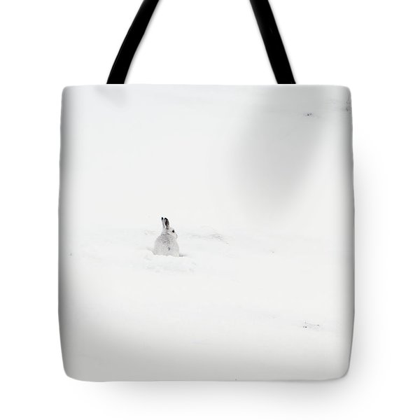 Mountain Hare Small In Frame Left Tote Bag
