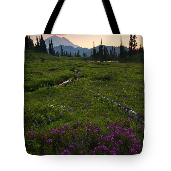 Mountain Heather Sunset Tote Bag by Mike  Dawson