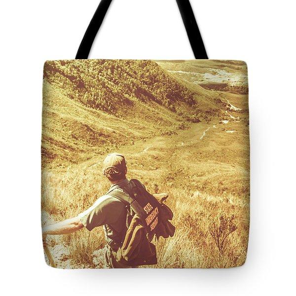 Mountain Hiking Australia Tote Bag