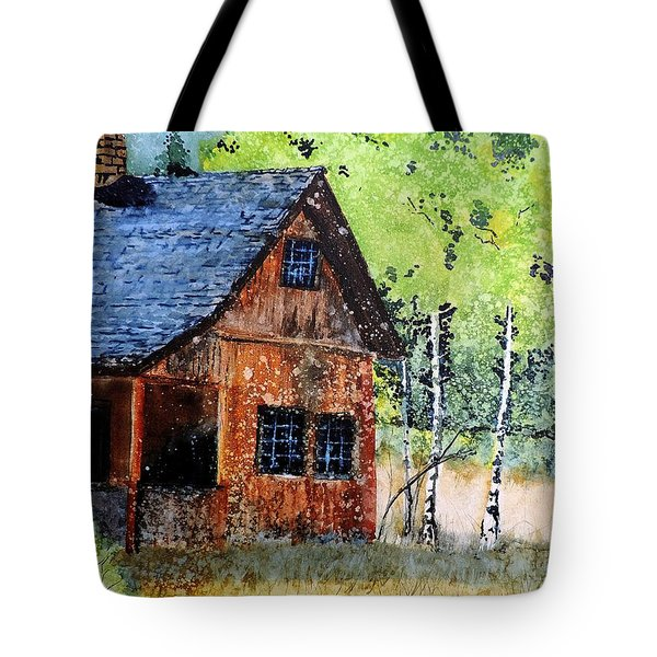 Mountain Home Tote Bag by Tom Riggs
