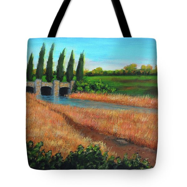Mountain House In The Fall Tote Bag