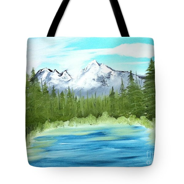 Mountain Imagining Tote Bag