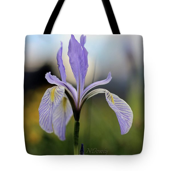Mountain Iris With Bud Tote Bag