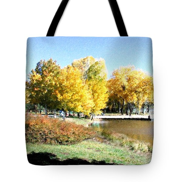 Mountain Lake Autumn Tote Bag