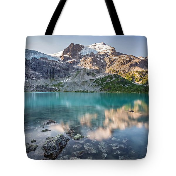 Mountain Lake Reflection Tote Bag by Pierre Leclerc Photography
