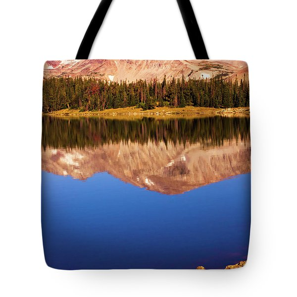 Tote Bag featuring the photograph Mountain Lake Reflections by John De Bord