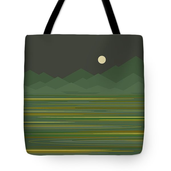 Mountain Lake Tote Bag by Val Arie