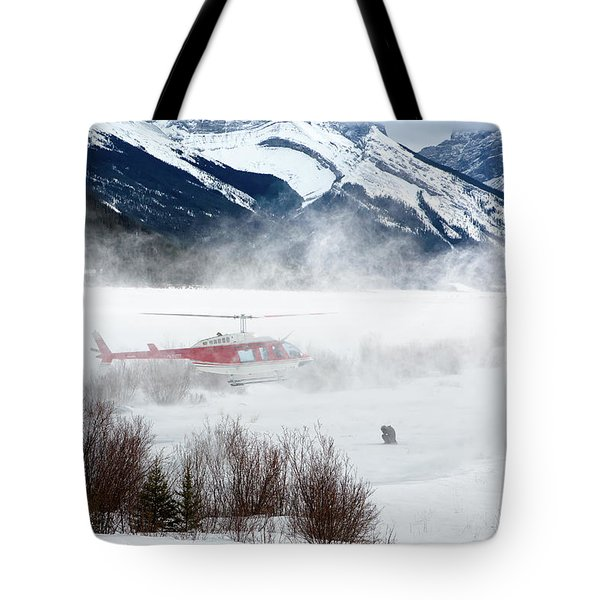 Mountain Landing Tote Bag