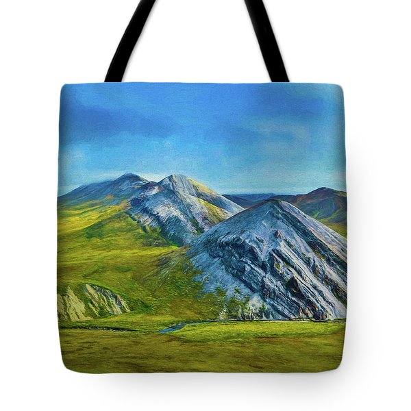 Mountain Landscape Digital Art Tote Bag