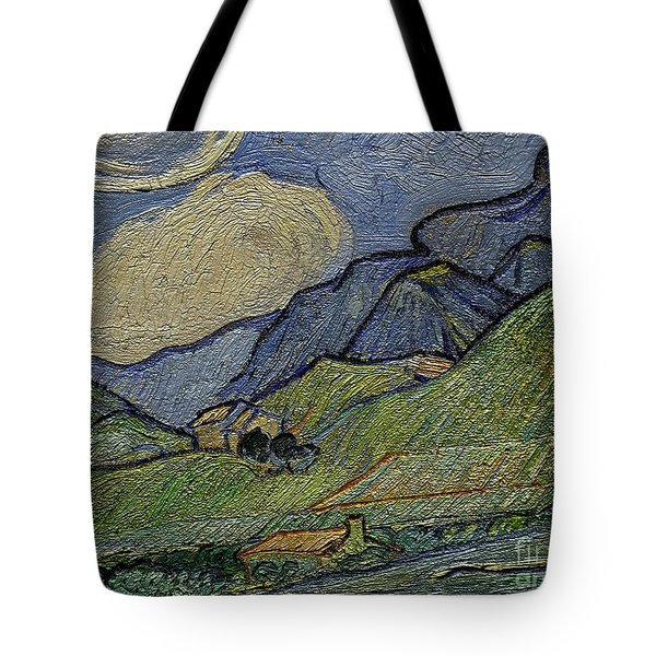 Mountain Landscape Tote Bag by Pemaro