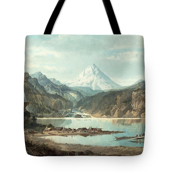 Mountain Landscape With Indians Tote Bag by John Mix Stanley