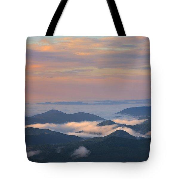 Mountain Layer Sunrise Tote Bag