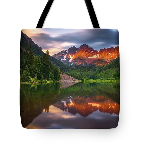 Tote Bag featuring the photograph Mountain Light Sunrise by Darren White