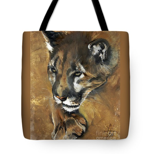 Mountain Lion - Guardian Of The North Tote Bag
