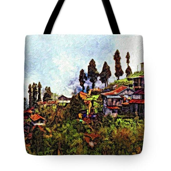Mountain Living Impasto Tote Bag by Steve Harrington