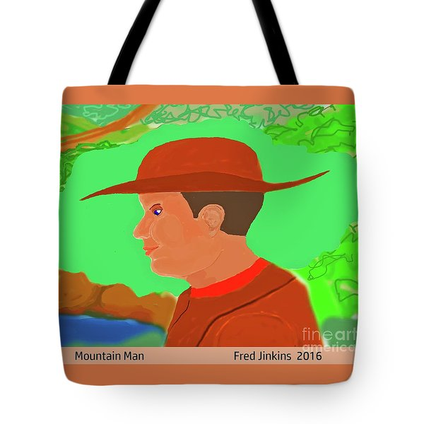 Mountain Man Tote Bag by Fred Jinkins