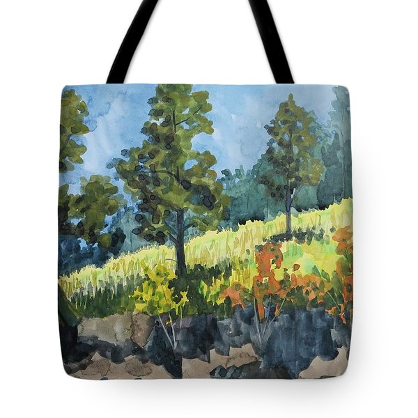 Mountain Meadow Tote Bag by Bethany Lee