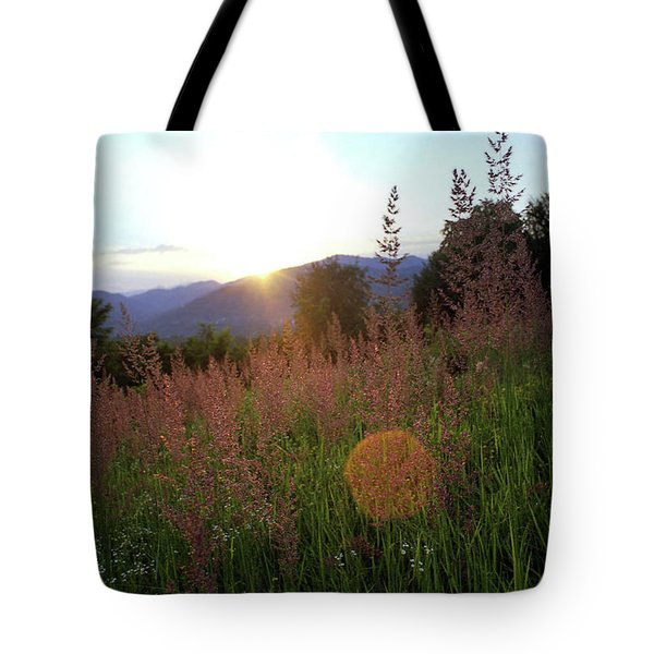 Mountain Meadow Tote Bag by Emanuel Tanjala