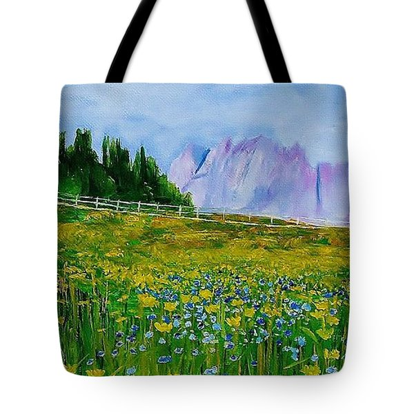Mountain Meadow Wildflowers Tote Bag