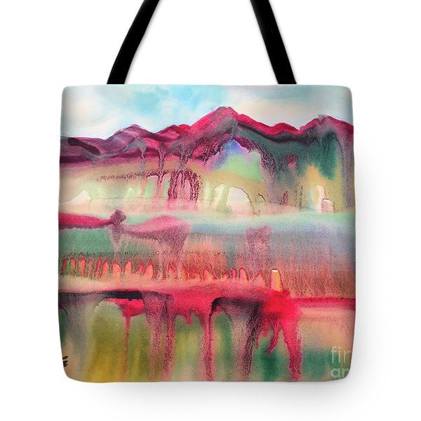 Mountain Mirage Tote Bag by Teresa Ascone