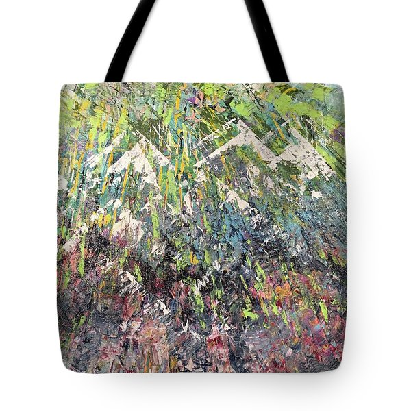 Mountain Of Many Colors Tote Bag