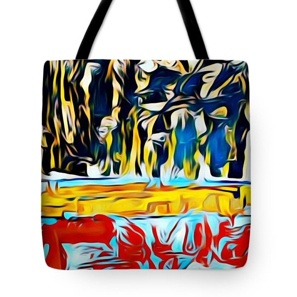 Mountain Of Many Faces Tote Bag