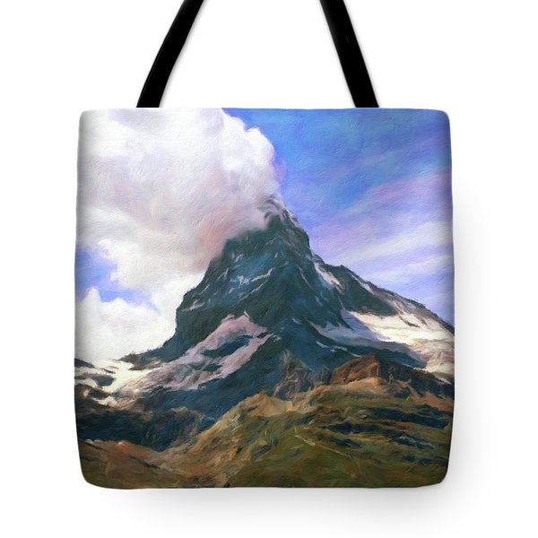 Tote Bag featuring the photograph Mountain Of Mountains  by Connie Handscomb