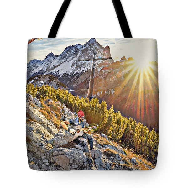 Mountain Of The Lord Tote Bag