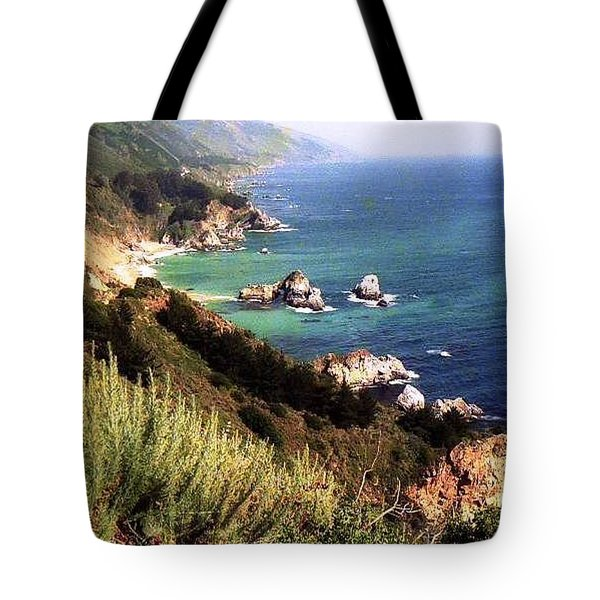 Mountain On Calif Pacific Ocean Tote Bag