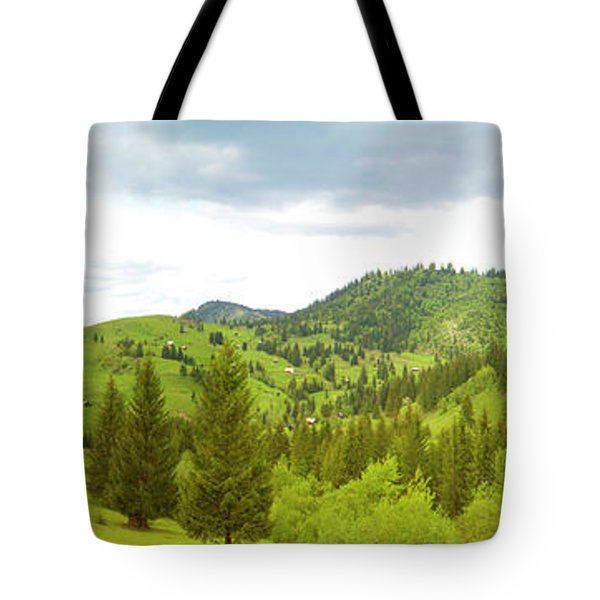 Mountain Panorama In Bucovina County - Romania Tote Bag by Vlad Baciu