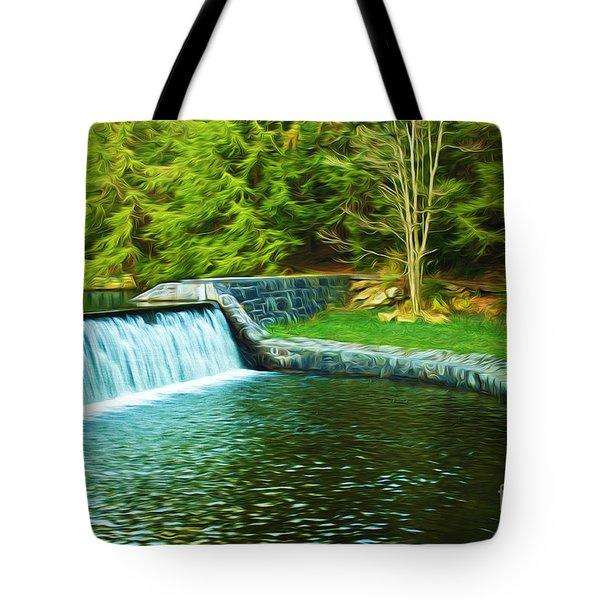 Mountain Park In Autumn Tote Bag